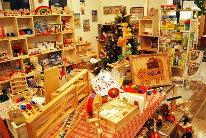 「かばんねこのクリスマス!」こんなおもちゃ屋さんができあがりました^^