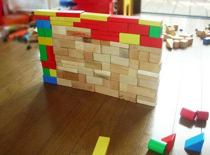 積み木で大事なことは、「量」と「形」
