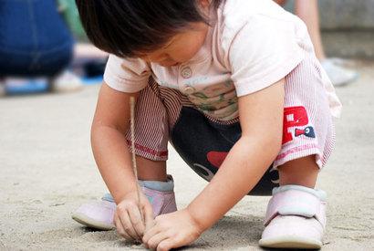 子供と砂場