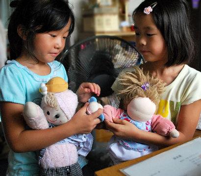 友達とのお人形遊び