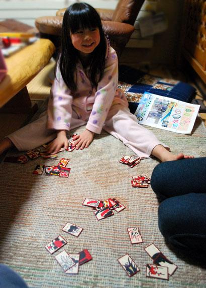 子どものころ、  トランプ、かるた、オセロ、将棋、花札...  しましたか^^?
