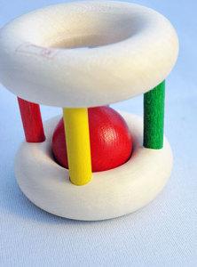 赤ちゃんの木のおもちゃ「ベビーロール」