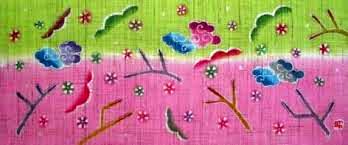 小黒三郎 円びな3段飾り 特製垂幕 桜