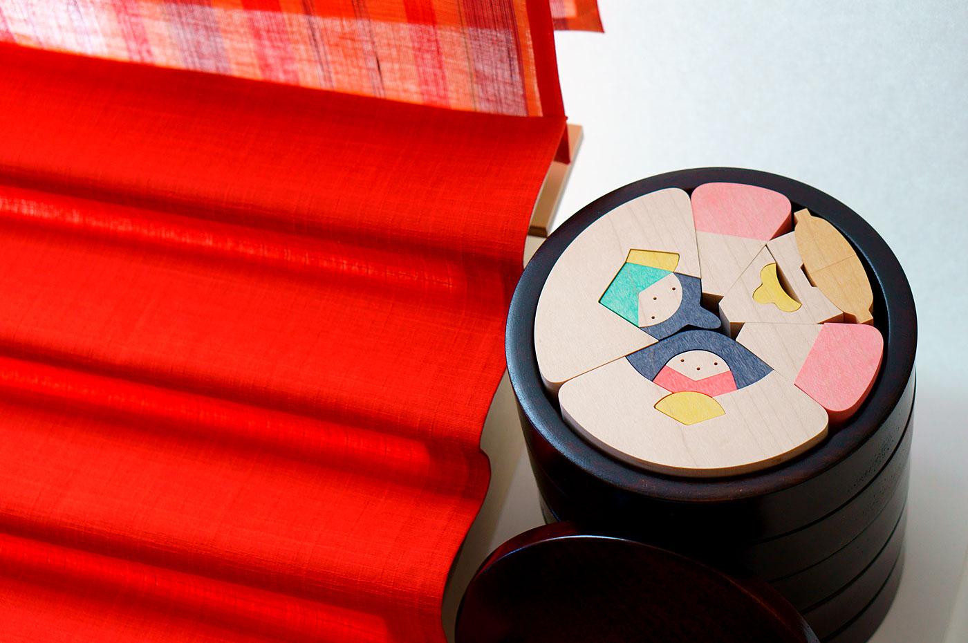 小黒三郎 円びな5段飾り
