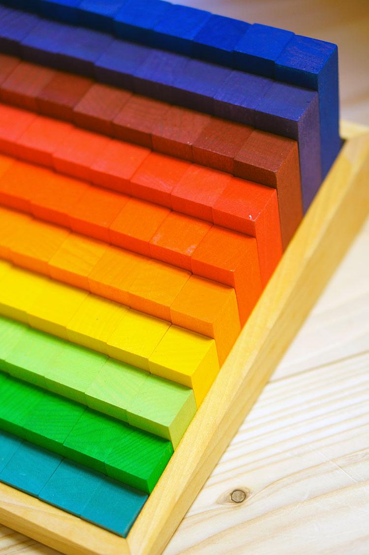 積木 虹のカウンティングブロック