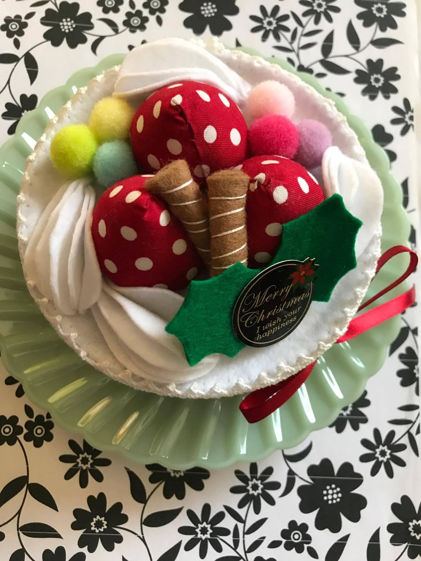 かばんねこ 大人おままごとの会 ちくちくのへや クリスマスケーキ