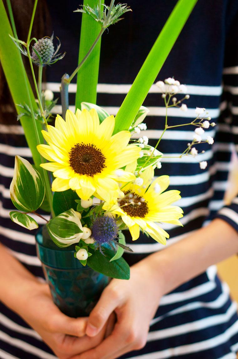 かばんねこレンタルスペースで、お花の教室