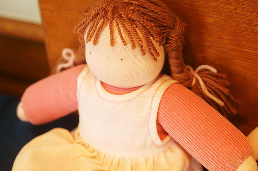 かばんねこでウォルドルフ人形をつくる