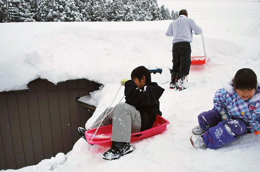 秋田の雪遊び