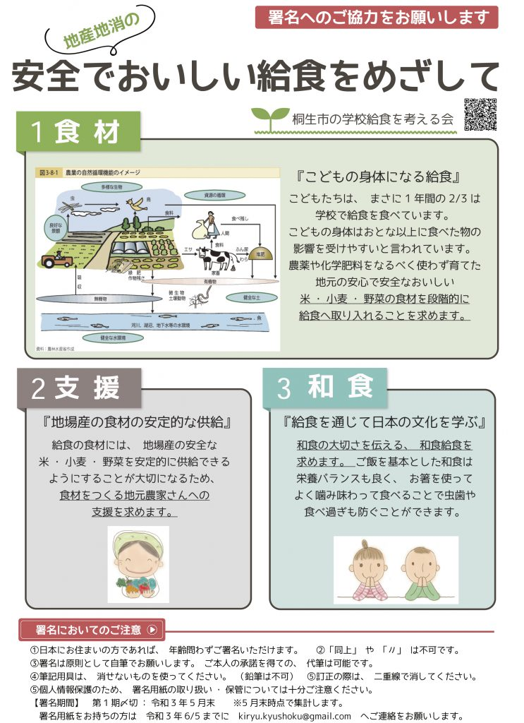 桐生市の学校給食を考える会